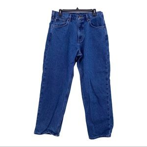 Men's Flannel Lined Jeans by Carhartt Size 34 x 30